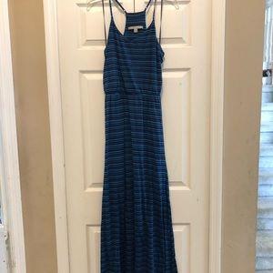 Lauren Conrad Blue Striped Maxi Dress Small